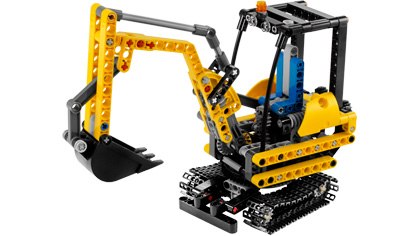 compact excavator 8047 lego building instructions. Black Bedroom Furniture Sets. Home Design Ideas