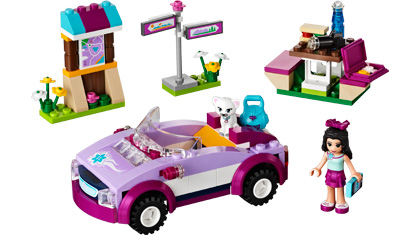 Emma S Sports Car 41013 Lego Building Instructions