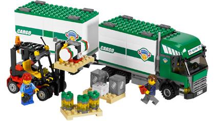 cargo truck amp forklift 7733 lego building instructions