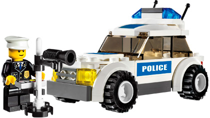 Police Car 7236 Lego Building Instructions